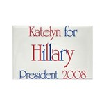 Katelyn for Hillary 2008 Rectangle Magnet