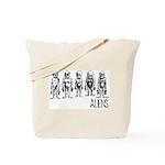 Hand Sketched Aliens Tote Bag