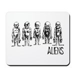 Hand Sketched Aliens Mousepad