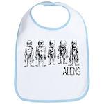 Hand Sketched Aliens Bib