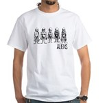 Hand Sketched Aliens White T-Shirt