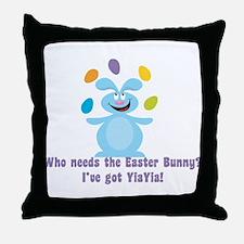Easter Bunny? I've got YiaYia! Throw Pillow