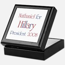 Nathaniel for Hillary 2008  Keepsake Box