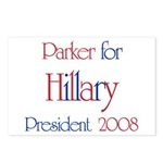 Parker for Hillary 2008  Postcards (Package of 8)