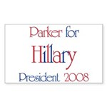 Parker for Hillary 2008 Rectangle Sticker
