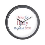 Parker for Hillary 2008 Wall Clock