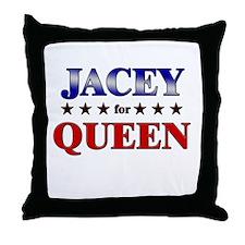 JACEY for queen Throw Pillow