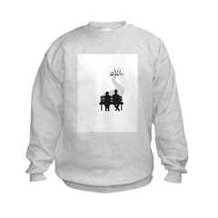 Two people no words logo Sweatshirt