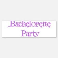 Bachelorette Party - Pink Fan Bumper Bumper Bumper Sticker