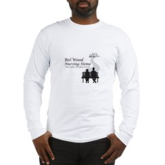 Black and white logo with two Long Sleeve T-Shirt