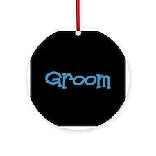 Groom - Blue Dingo Ornament (Round)