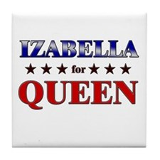 IZABELLA for queen Tile Coaster