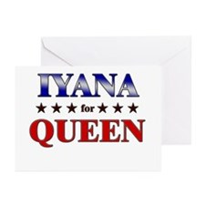 IYANA for queen Greeting Cards (Pk of 20)