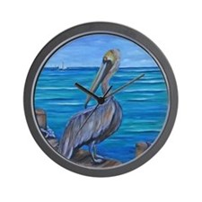 Pelican on The Pier Wall Clock