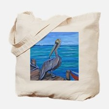 Pelican on The Pier Tote Bag
