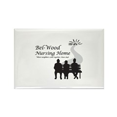 black and white logo with 3 p Rectangle Magnet (10