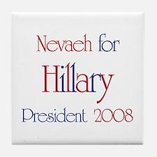 Nevaeh for Hillary 2008 Tile Coaster