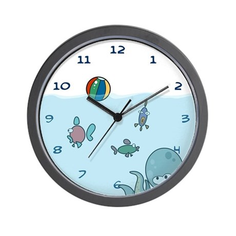 Fish tank wall clock by elephantegg for Fish wall clock