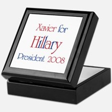 Xavier for Hillary 2008  Keepsake Box