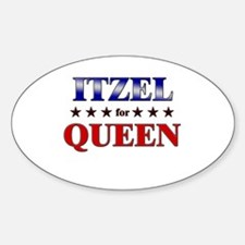 ITZEL for queen Oval Decal