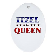 ITZEL for queen Oval Ornament