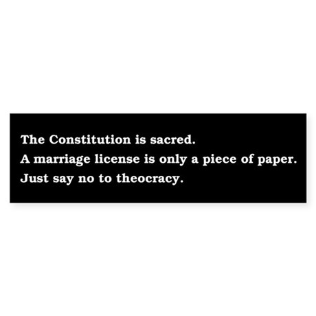 Just say no to theocracy.