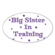 Big Sister In Training Oval Decal