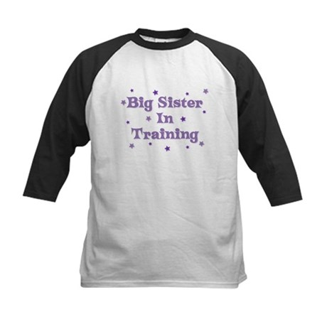 Big Sister In Training Kids Baseball Jersey