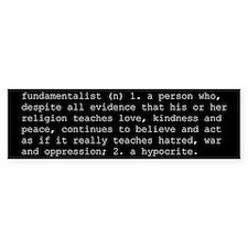 """Definition of """"fundamentalist"""""""