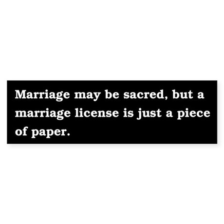 Marriage is just a legal contract.