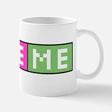 Love Me pink/green chiclet Mug