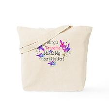 Grandma Heart Flutter Tote Bag