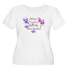 Grandma Heart Flutter T-Shirt
