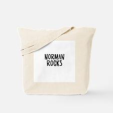 Norman Rocks Tote Bag