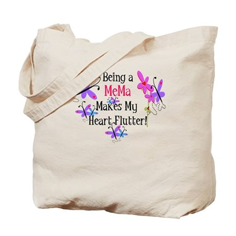 MeMa Heart Flutter Tote Bag