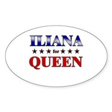 ILIANA for queen Oval Decal