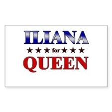 ILIANA for queen Rectangle Decal
