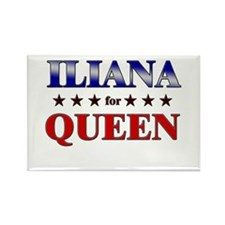 ILIANA for queen Rectangle Magnet