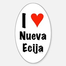 I love Nueva Ecija Oval Decal