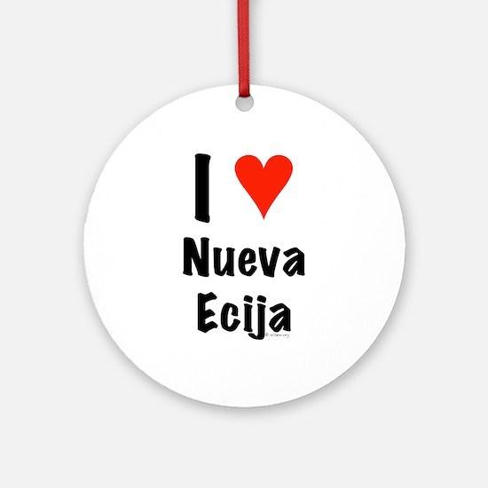 I love Nueva Ecija Ornament (Round)
