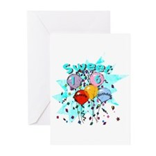 Sweet 16th Birthday Greeting Cards (Pk of 20)