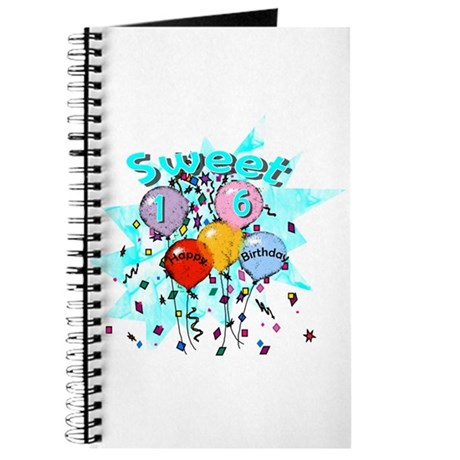 Sweet 16th Birthday Journal