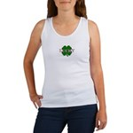 LUCKY 4 LEAF CLOVER  MONKEY ON BACK-Women's Tank