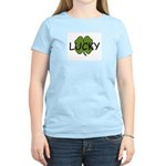 LUCKY 4 LEAF CLOVER Women's Pink T-Shirt