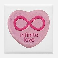 Infinite Love... Tile Coaster