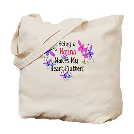 Nonna Heart Flutter Tote Bag