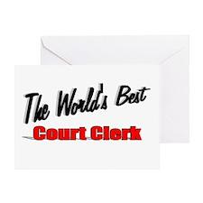 """The World's Best Court Clerk"" Greeting Card"