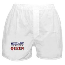 HILLARY for queen Boxer Shorts