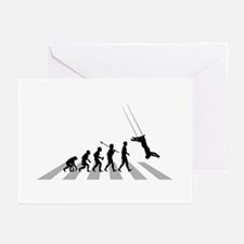 Trapeze Greeting Cards
