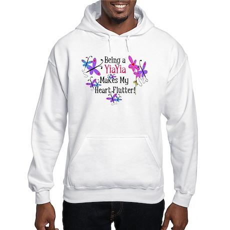 YiaYia Heart Flutter Hooded Sweatshirt